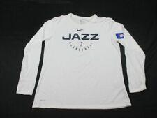 NEW Nike Utah Jazz - Women's White Dri-Fit Long Sleeve Shirt (L)