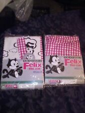 Vtg Felix The Cat Curtains new old stock never used or removed Righty-O