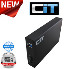 "CiT 3.5"" USB 3.0 SATA Aluminium HDD Enclosure U3YA Black"