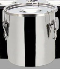 Thick Stainless Steel 5 Gal/19 L Silicon Sealed Barrel Bucket Food storage + lid