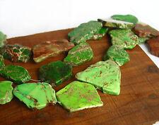 "15"" Aqua Terra Impression Jasper slab freeform beads length drilled GREEN lime"