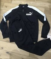Puma Mens Poly Tracksuit (full) Black Size Small New