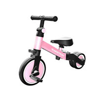 Swagtron K7 3-in-1 Balance Trike Tricycle And Balance Bike For Toddlers Pink