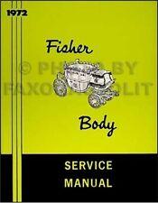 1972 Chevelle Body Repair Shop Manual 72 SS Monte Carlo Malibu and El Camino