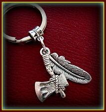 INDIAN style Tomahawk - Feather KEYCHAIN Jewelry - FSU Florida State Univ.