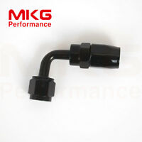AN6 6AN Universal 90 Degree Swivel Oil Fuel Line Hose End Fitting Adapter Black