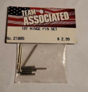 Team Associated Hinge Pin Set Rc18t Rc18b 1/18th 4wd Vintage Rc 21085