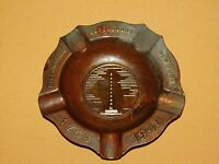 VINTAGE 1748 1948 BI-CENTENNIAL OGDENSBURG NEW YORK METAL ASHTRAY