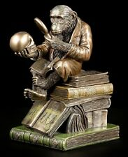 Affe mit Schädel - Darwinismus Evolutions-Theorie - Darwin Totenkopf