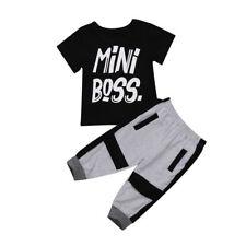 USA Kids Baby Boys Camo Denim Outfits Tops T-shirt Pants Trousers Clothes Set