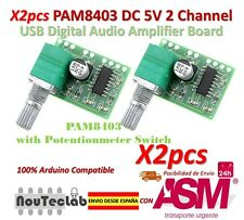 2pcs PAM8403 5V 2 Channel USB Digital Audio Amplifier with Potentionmeter Switch