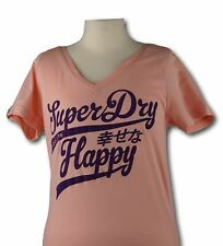 SUPERDRY Damenshirt Gr.S UK 10 Damen T-Shirt WOMENS SUPERDRY HAPPY NEU/ 0382
