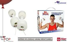 NINTENDO WII LONSDALE VARIABLE WEIGHT DUMBBELLS  4 x2.5 - 4 x 0.5kg BNIB