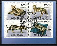 Animaux Félins Guinée Bissau (156) série complète 4 timbres oblitérés