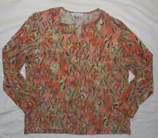 WOMEN jacket TOP BLOUSE SHIRT = TAN JAY = SIZE MEDIUM = WH74