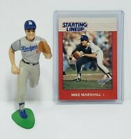 MIKE MARSHALL Los Angeles Dodgers Kenner Starting Lineup SLU 1988 Figure & Card