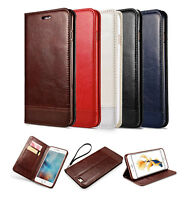 PU Leather Back Stand Wallet Case Magnetic Flip Shockproof Protect Phone Cover