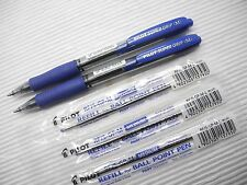 2 pen + 3 refill Pilot retractable Super Grip 1.0mm ball point pen Blue(Japan)