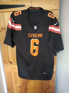 """CLEVELAND BROWNS NFL JERSEY BY NIKE SIZE XL 46/48"""" - MAYFIELD 6"""