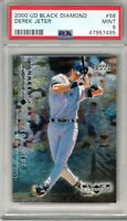 "2000 UD Black Diamond #56 ""Derek Jeter"" PSA 9`~ 1/8 {NYY ""The Captain""} @@LOOK@@"