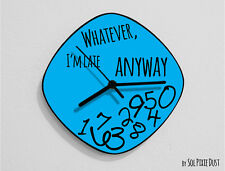Whatever I'm Late Anyway / Oval Blue - Wall Clock