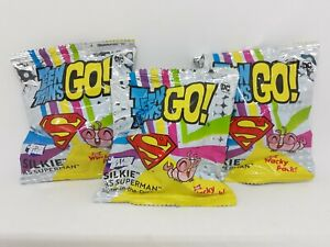 Lot Of 3 Teen Titans Go Silkie as Superman Toy Wacky Pack