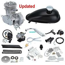 Updated 2 Stroke 80cc Motor Engine Kit For Motorized Bicycle Speedometer Silver