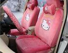 1 Set Cartoon Plush Hello Kitty Universal Car Seat Cover Cushion Accessory Tla10