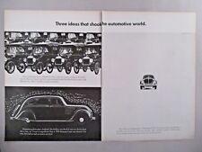 Volkswagen VW Bug Beetle Double-Page PRINT AD - 1966
