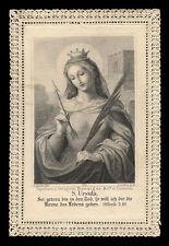 santino merlettato-holycard-canivet S.ORSOLA V.M.