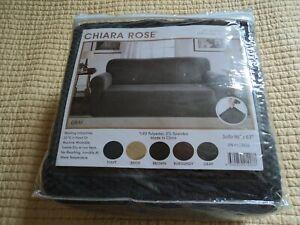 Chiara Rose  Gray Sofa Protector  96 x 63   New   153833