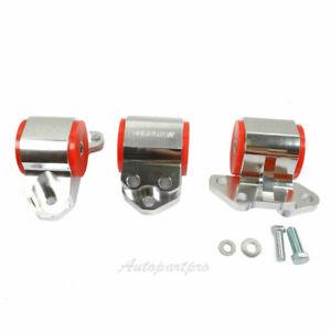 Motor Mount 3 Bolt Aluminum For 92-95 Honda Civic 94-01 Integra B & D Series