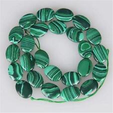 10x14mm Green Malachite Oval Gemstone Loose Beads 15''
