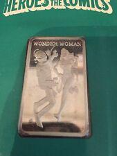 Heroes of Comics WONDER WOMAN 1974 Card MEM .999 1 oz SILVER  BAR #68  RARE