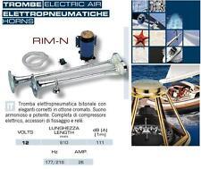 TROMBA MARINA BITONALE OTTONE Cm.61 PNEUMATICA 12V 111dB per BARCA CAMPER RIM-N