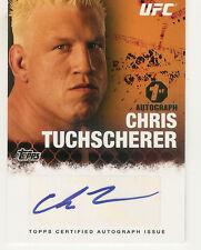 2010 TOPPS UFC 4 FIGHTER CHRIS TUCHSCHERER 1ST AUTO RC AUTOGRAPH