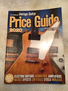 2020 Official Vintage Guitar Magazine Price Guide 600 Pages With Great Photos
