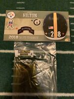 Mike Hilton Game Used Helmet Decals 2018 Salute To Service Pittsburgh Steelers