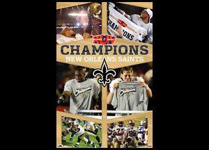 New Orleans Saints Super Bowl XLIV CELEBRATION Vintage Original 22x34 POSTER