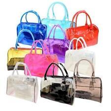 10 Colors Chic Women Sweet Handbag Girl's Transparent Beach Candy Shoulder Bags