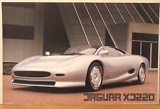 PRL) 1990 JAGUAR XJ220 TOP SUPER CAR AUTO VINTAGE AFFICHE ART PRINT POSTER '90 s