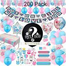 Gender Reveal Party Supplies x200 Baby Shower Kit Boy Girl Balloons Tableware