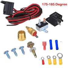 "Electric Radiator Engine Fan Thermostat Temperature Switch Relay Kit 3/8"" Thread"