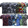 Men Compression Base Layer Top Short Sleeve Thermal Gym Sport T-Shirt Activewear