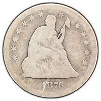 1876-S 25c Seated Liberty Silver Quarter - SKU-X659