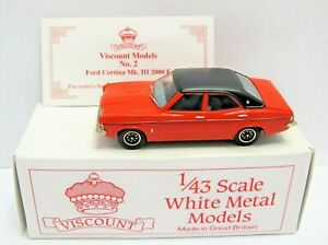 Viscount / Pathfinder Models 1974 Red Ford Cortina Mk.3 2000E - 1/43 (3031)