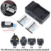 2X Battery 900mAH + Charger  for Olympus TG-810 D-750 D-755 D-760 SH-21