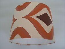"""12""""/30cm Orange/Crème Style Rétro Trippant papier peint ABAT JOUR"""