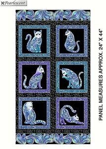 SALE  CAT I TUDE PANEL BENARTEX  SEW QUILT CRAFT FABRIC  23.5 BY 44