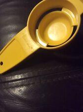 Collectible Vintage Yellow Tupperware Egg Yolk Separator Kitchen Gadget ~ 779-10
